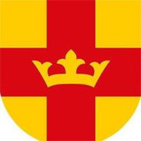 logotype svenska kyrkan gul och röd